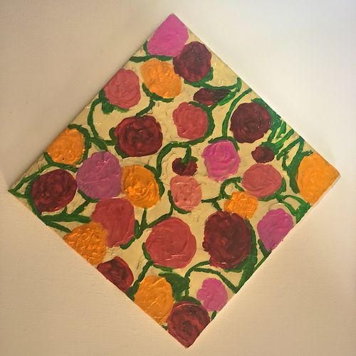 roses, 6 x 6 inch, amita sharma,6x6inch,hardboard,paintings,flower paintings,paintings for dining room,paintings for living room,paintings for bedroom,paintings for office,paintings for kids room,paintings for hotel,paintings for school,paintings for hospital,mixed media,GAL02411735571