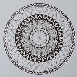 circle mandala, 11 x 11 inch, ritika kanwal,11x11inch,ivory sheet,drawings,abstract drawings,art deco drawings,modern drawings,paintings for living room,paintings for bedroom,paintings for office,paintings for hotel,pen color,GAL02415435579