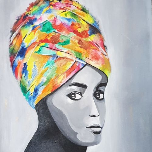 the turban, 24 x 36 inch, swarnaa agarwal,24x36inch,canvas,paintings,figurative paintings,modern art paintings,portraiture,paintings for dining room,paintings for living room,paintings for office,paintings for hotel,paintings for hospital,acrylic color,GAL02402335588
