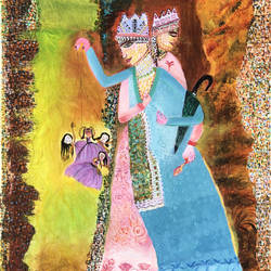 marionette, 24 x 30 inch, madhu dhir,24x30inch,canvas,paintings,figurative paintings,modern art paintings,acrylic color,GAL02049135597