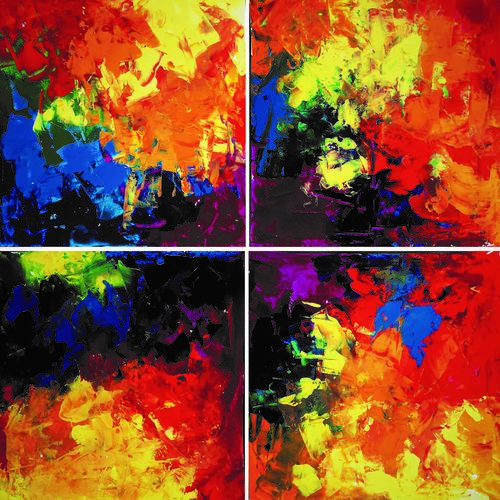 modern shades, 16 x 16 inch, revathi  nandana,16x16inch,paper,paintings,abstract paintings,modern art paintings,multi piece paintings,abstract expressionism paintings,contemporary paintings,paintings for dining room,paintings for living room,paintings for bedroom,paintings for office,paintings for bathroom,paintings for kids room,paintings for hotel,paintings for kitchen,paintings for school,paintings for hospital,acrylic color,GAL02416035602