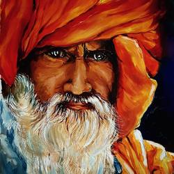 agori-indian monk, 10 x 15 inch, revathi  nandana,10x15inch,paper,paintings,figurative paintings,portrait paintings,photorealism paintings,realism paintings,paintings for dining room,paintings for living room,paintings for bedroom,paintings for office,paintings for bathroom,paintings for kids room,paintings for hotel,paintings for kitchen,paintings for school,paintings for hospital,acrylic color,oil color,GAL02416035606