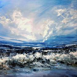 ocean, 28 x 22 inch, revathi  nandana,28x22inch,paper,paintings,abstract paintings,landscape paintings,modern art paintings,conceptual paintings,nature paintings | scenery paintings,abstract expressionism paintings,minimalist paintings,realism paintings,contemporary paintings,paintings for dining room,paintings for living room,paintings for bedroom,paintings for office,paintings for bathroom,paintings for kids room,paintings for hotel,paintings for kitchen,paintings for school,paintings for hospital,acrylic color,GAL02416035617