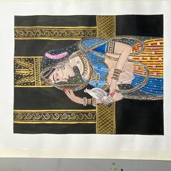 indian miniature painting, 11 x 14 inch, niharika agarwal,11x14inch,drawing paper,paintings,portrait paintings,paintings for living room,paintings for bedroom,paintings for hotel,poster color,GAL02417835620