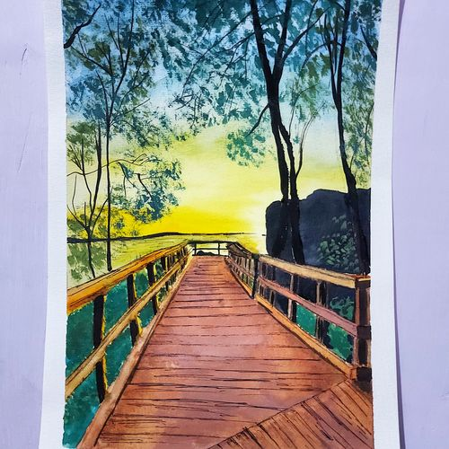 nature painting, 8 x 12 inch, ritu pandey ,8x12inch,canson paper,paintings,wildlife paintings,landscape paintings,modern art paintings,nature paintings | scenery paintings,photorealism paintings,surrealism paintings,contemporary paintings,paintings for dining room,paintings for living room,paintings for bedroom,paintings for office,paintings for hotel,paintings for dining room,paintings for living room,paintings for bedroom,paintings for office,paintings for hotel,watercolor,ball point pen,paper,GAL02418135630