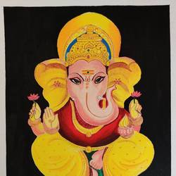ganesh diaries, 7 x 11 inch, pranoti kirtikar,7x11inch,paper,paintings,ganesha paintings | lord ganesh paintings,paintings for living room,paintings for office,acrylic color,GAL02312435646