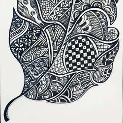 leaf, 11 x 17 inch, sudipta jha,11x17inch,thick paper,drawings,art deco drawings,paintings for living room,pen color,GAL02420235665