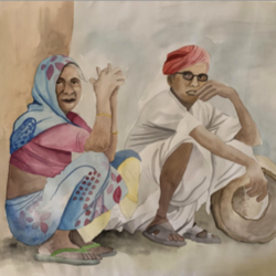 within india, 17 x 23 inch, manav patel,17x23inch,thick paper,paintings,portrait paintings,paintings for dining room,paintings for living room,paintings for bedroom,paintings for office,paintings for kids room,pencil color,watercolor,GAL02379335693