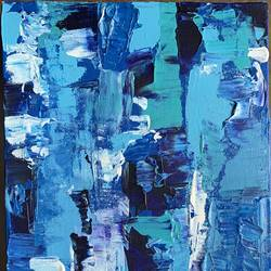 feeling blue, 8 x 16 inch, manav patel,8x16inch,canvas,paintings,abstract paintings,modern art paintings,paintings for dining room,paintings for living room,paintings for bedroom,paintings for office,paintings for hotel,acrylic color,GAL02379335695