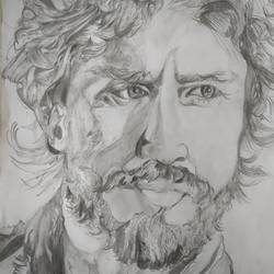 drawing -vidyut jamwal, 12 x 17 inch, aditya  gupta,12x17inch,drawing paper,drawings,paintings for living room,portrait drawings,paintings for living room,charcoal,graphite pencil,paper,GAL02402235710