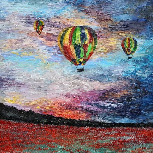 hot air baloon sunset, 16 x 16 inch, esther sandhya a,16x16inch,canvas,landscape paintings,nature paintings | scenery paintings,paintings for dining room,paintings for living room,paintings for bedroom,paintings for office,paintings for kids room,paintings for hotel,paintings for school,paintings for dining room,paintings for living room,paintings for bedroom,paintings for office,paintings for kids room,paintings for hotel,paintings for school,acrylic color,GAL0166335714