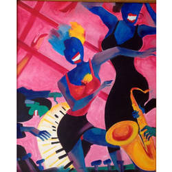 jazz party, 20 x 30 inch, gita  singh,20x30inch,canvas,modern art paintings,paintings for living room,paintings for bedroom,paintings for office,paintings for hotel,paintings for living room,paintings for bedroom,paintings for office,paintings for hotel,acrylic color,GAL02428435717