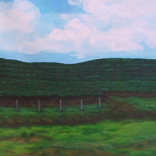 tea gardens of assam, 29 x 28 inch, sreya gupta,nature paintings,paintings for living room,canvas,acrylic color,29x28inch,GAL02593572Nature,environment,Beauty,scenery,greenery,tea,tea gardens,grass,garden,fence