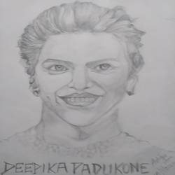 drawing -deepika padukone, 12 x 17 inch, aditya  gupta,12x17inch,drawing paper,drawings,charcoal,graphite pencil,paper,GAL02402235721