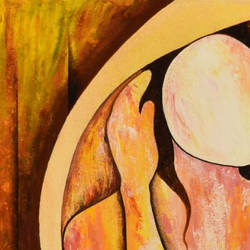doubt , 24 x 36 inch, rajendra prasad  singh,24x36inch,canvas,paintings,abstract paintings,figurative paintings,modern art paintings,impressionist paintings,realism paintings,paintings for dining room,paintings for living room,paintings for bedroom,paintings for office,paintings for hotel,acrylic color,GAL02426135758