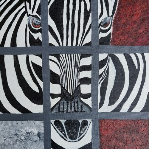 the zebra, 10 x 12 inch, vaishali  k,10x12inch,canvas board,paintings,abstract paintings,wildlife paintings,modern art paintings,multi piece paintings,conceptual paintings,animal paintings,paintings for dining room,paintings for living room,paintings for bedroom,paintings for office,paintings for bathroom,paintings for kids room,paintings for hotel,paintings for kitchen,paintings for school,paintings for hospital,acrylic color,GAL02435735769