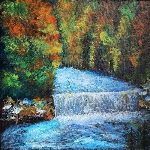waterfall painting on canvas, 24 x 24 inch, nidhi shetty,24x24inch,canvas board,paintings,landscape paintings,nature paintings | scenery paintings,paintings for dining room,paintings for living room,paintings for bedroom,paintings for office,paintings for bathroom,paintings for kids room,paintings for hotel,paintings for kitchen,paintings for school,paintings for hospital,paintings for dining room,paintings for living room,paintings for bedroom,paintings for office,paintings for bathroom,paintings for kids room,paintings for hotel,paintings for kitchen,paintings for school,paintings for hospital,acrylic color,GAL02408235777