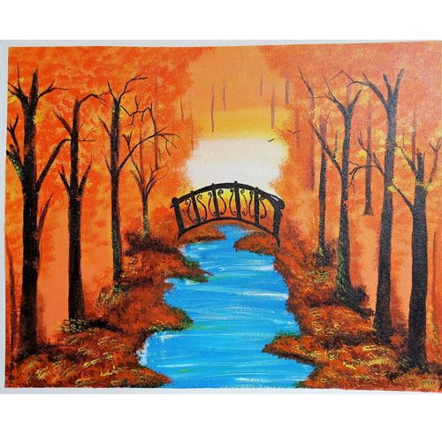 scenery painting on canvas, 20 x 16 inch, nidhi shetty,20x16inch,canvas board,paintings,landscape paintings,nature paintings | scenery paintings,paintings for dining room,paintings for living room,paintings for bedroom,paintings for office,paintings for bathroom,paintings for kids room,paintings for hotel,paintings for kitchen,paintings for school,paintings for hospital,acrylic color,GAL02408235783