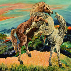 horses - palette knife  | brush oil painting , 24 x 36 inch, rajendra prasad  singh,24x36inch,canvas,paintings,modern art paintings,animal paintings,horse paintings,paintings for dining room,paintings for living room,paintings for bedroom,paintings for office,paintings for hotel,paintings for school,paintings for hospital,acrylic color,oil color,GAL02426135789