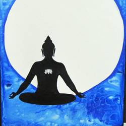 buddha's enlightenment , 24 x 36 inch, sheetal chaudhary,24x36inch,canvas board,paintings,abstract paintings,buddha paintings,religious paintings,paintings for dining room,paintings for living room,paintings for bedroom,paintings for office,paintings for kids room,paintings for hotel,paintings for kitchen,paintings for school,paintings for hospital,acrylic color,GAL01560335820