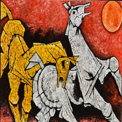 horse #p3, 24 x 36 inch, rajendra prasad  singh,24x36inch,canvas,paintings,modern art paintings,animal paintings,horse paintings,paintings for dining room,paintings for living room,paintings for bedroom,paintings for office,paintings for hotel,paintings for school,paintings for hospital,acrylic color,GAL02426135827