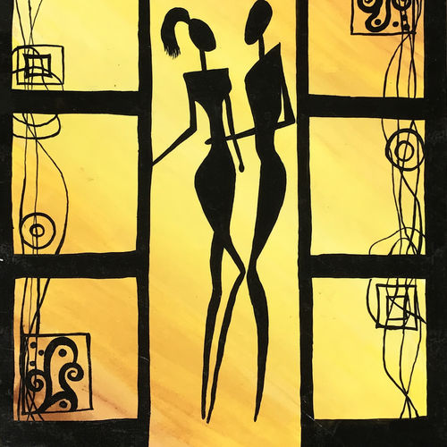 amore de dimension, 12 x 15 inch, harshita savla,abstract paintings,paintings for bedroom,drawing paper,fabric,12x15inch,GAL013173583