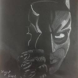 white charcoal batman, 8 x 11 inch, divjot  singh,8x11inch,paper,paintings for bedroom,paintings for kids room,fine art drawings,kids drawings,paintings for bedroom,paintings for kids room,charcoal,pencil color,GAL02445335852