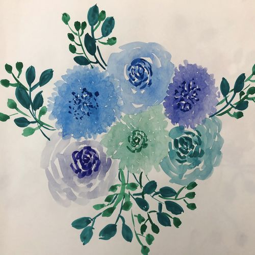 floral pastel, 8 x 11 inch, roop thind,8x11inch,paper,flower paintings,watercolor,GAL02441935854