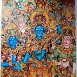 ram darbar, 35 x 58 inch, shiv kshatgar,35x58inch,canvas,paintings,religious paintings,paintings for dining room,paintings for living room,paintings for office,paintings for hotel,paintings for school,paintings for hospital,acrylic color,GAL02442735869