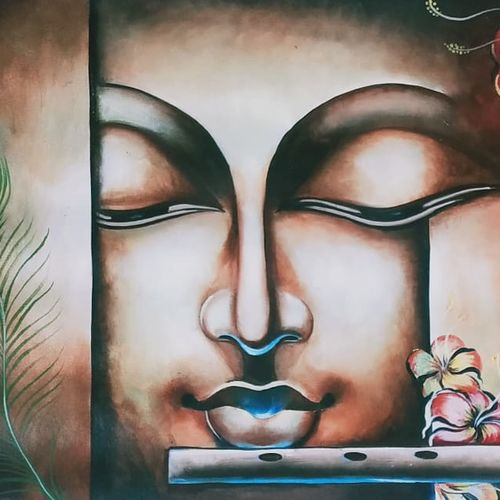 buddha, 18 x 24 inch, shiv kshatgar,18x24inch,canvas,abstract paintings,paintings for dining room,paintings for living room,paintings for bedroom,paintings for office,paintings for hotel,paintings for school,paintings for hospital,paintings for dining room,paintings for living room,paintings for bedroom,paintings for office,paintings for hotel,paintings for school,paintings for hospital,acrylic color,GAL02442735872