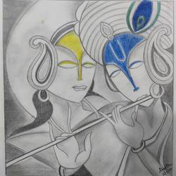 radha krishna, 8 x 8 inch, shweta hemani,8x8inch,cartridge paper,drawings,abstract drawings,abstract expressionism drawings,expressionism drawings,figurative drawings,modern drawings,portrait drawings,radha krishna drawings,paintings for dining room,paintings for living room,paintings for bedroom,paintings for office,paintings for bathroom,paintings for kids room,paintings for hotel,paintings for kitchen,paintings for school,paintings for hospital,pencil color,graphite pencil,paper,GAL02454435909