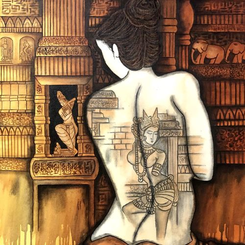 chitralekha , 24 x 36 inch, mrinal  dutt,24x36inch,canvas,paintings,figurative paintings,conceptual paintings,contemporary paintings,paintings for dining room,paintings for living room,paintings for bedroom,paintings for office,paintings for bathroom,paintings for hotel,paintings for kitchen,paintings for hospital,acrylic color,GAL01311735912