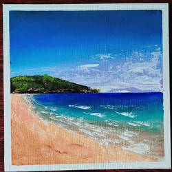beach , 12 x 12 inch, abhilipsa  mahapatra,12x12inch,canvas,paintings,nature paintings | scenery paintings,paintings for bedroom,acrylic color,GAL02379035917