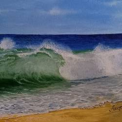 waves, 12 x 16 inch, aravind padmashali,12x16inch,canvas,paintings,nature paintings | scenery paintings,paintings for dining room,paintings for living room,paintings for office,acrylic color,GAL02455835935