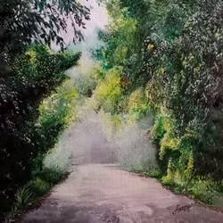 the way, 12 x 14 inch, aravind padmashali,12x14inch,canvas,paintings,nature paintings | scenery paintings,paintings for dining room,paintings for living room,paintings for office,paintings for dining room,paintings for living room,acrylic color,GAL02455835936