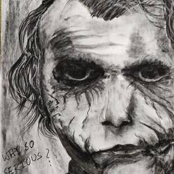 joker, 12 x 16 inch, shankhadeep  mondal,12x16inch,thick paper,drawings,portrait drawings,paintings for dining room,paintings for living room,paintings for bedroom,paintings for office,paintings for kids room,paintings for hotel,paintings for kitchen,paintings for school,paintings for hospital,charcoal,GAL01403035938