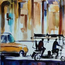 citylife:toto, 8 x 11 inch, shankhadeep  mondal,8x11inch,brustro watercolor paper,paintings,cityscape paintings,modern art paintings,paintings for dining room,paintings for living room,paintings for bedroom,paintings for office,paintings for bathroom,paintings for kids room,paintings for hotel,paintings for kitchen,watercolor,GAL01403035939