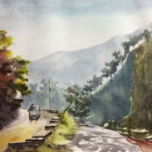 original watercolour painting , mountain art for home decor, 26 x 18 inch, dipankar  biswas,26x18inch,handmade paper,paintings,landscape paintings,nature paintings | scenery paintings,art deco paintings,contemporary paintings,paintings for dining room,paintings for living room,paintings for bedroom,paintings for office,paintings for hotel,paintings for hospital,paintings for dining room,paintings for living room,paintings for bedroom,paintings for office,paintings for hotel,paintings for hospital,watercolor,paper,GAL0293235952