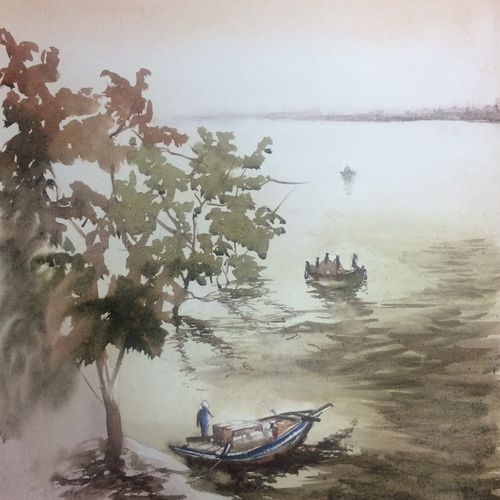 original watercolour painting , morning mist , 14 x 21 inch, dipankar  biswas,14x21inch,handmade paper,paintings,landscape paintings,nature paintings | scenery paintings,art deco paintings,realism paintings,realistic paintings,paintings for dining room,paintings for living room,paintings for bedroom,paintings for office,paintings for hotel,paintings for school,paintings for hospital,paintings for dining room,paintings for living room,paintings for bedroom,paintings for office,paintings for hotel,paintings for school,paintings for hospital,watercolor,paper,GAL0293235962