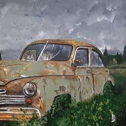 vintage rusted car, 24 x 18 inch, tejal bhagat,24x18inch,canvas,paintings,abstract paintings,flower paintings,landscape paintings,conceptual paintings,nature paintings | scenery paintings,expressionism paintings,illustration paintings,impressionist paintings,photorealism paintings,photorealism,realism paintings,surrealism paintings,realistic paintings,paintings for dining room,paintings for living room,paintings for bedroom,paintings for office,paintings for hotel,paintings for kitchen,paintings for school,paintings for hospital,acrylic color,GAL02041535981