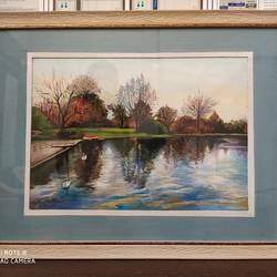 lake view, 12 x 18 inch, rashid matwal,12x18inch,renaissance watercolor paper,landscape paintings,watercolor,GAL02463036008