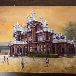 palace, 10 x 12 inch, rashid matwal,10x12inch,renaissance watercolor paper,paintings,cityscape paintings,landscape paintings,paintings for dining room,paintings for living room,paintings for bedroom,paintings for office,paintings for bathroom,paintings for kids room,paintings for hotel,paintings for kitchen,paintings for school,paintings for hospital,watercolor,GAL02463036010