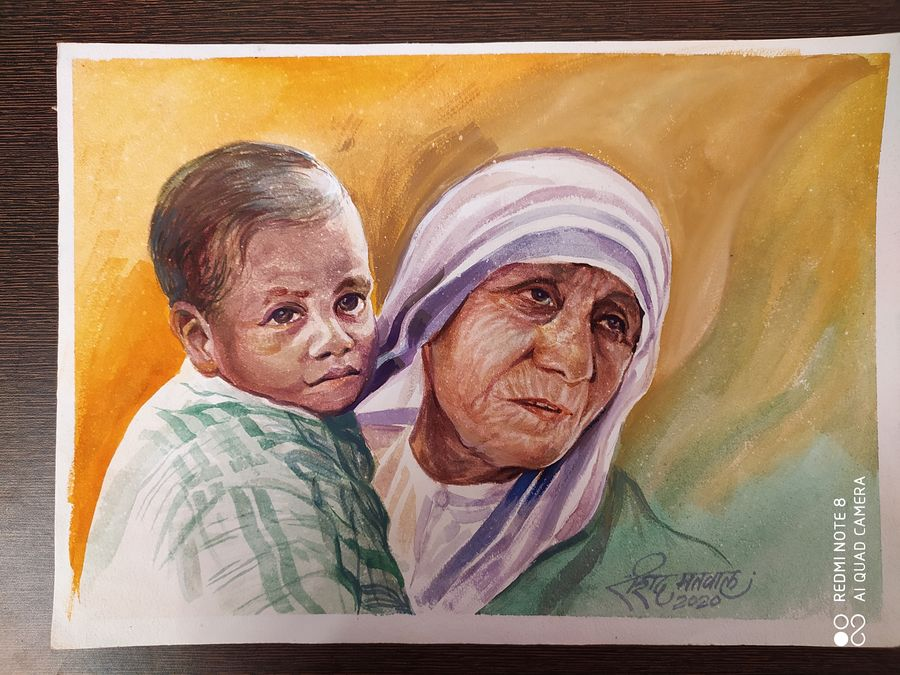 mother teresa, 10 x 12 inch, rashid matwal,10x12inch,renaissance watercolor paper,mother teresa paintings,paintings for dining room,paintings for living room,paintings for bedroom,paintings for office,paintings for bathroom,paintings for kids room,paintings for hotel,paintings for school,paintings for hospital,paintings for dining room,paintings for living room,paintings for bedroom,paintings for office,paintings for bathroom,paintings for kids room,paintings for hotel,paintings for school,paintings for hospital,watercolor,GAL02463036011
