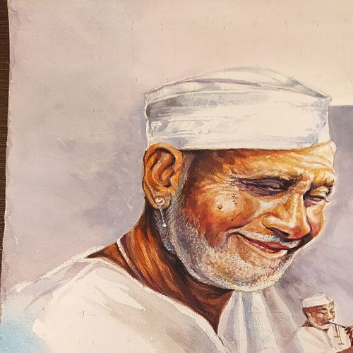 shehnaai, 10 x 12 inch, rashid matwal,10x12inch,renaissance watercolor paper,paintings,portrait paintings,expressionism paintings,photorealism paintings,portraiture,realism paintings,realistic paintings,paintings for dining room,paintings for living room,paintings for bedroom,paintings for office,paintings for bathroom,paintings for kids room,paintings for hotel,paintings for school,watercolor,GAL02463036013