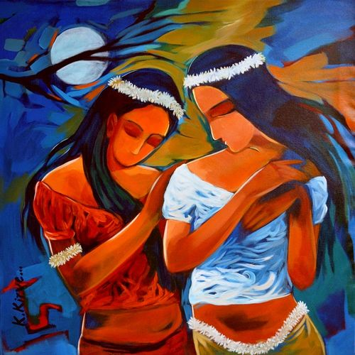 true friend, 32 x 32 inch, krantishil kirve,32x32inch,canvas,paintings,figurative paintings,flower paintings,conceptual paintings,expressionism paintings,impressionist paintings,paintings for dining room,paintings for living room,paintings for bedroom,paintings for office,paintings for bathroom,paintings for kids room,paintings for hotel,paintings for kitchen,paintings for school,paintings for hospital,acrylic color,GAL01952336036