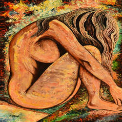 hot desire #p1 - palette knife oil painting , 24 x 36 inch, rajendra prasad  singh,24x36inch,canvas,paintings,figurative paintings,modern art paintings,expressionism paintings,paintings for dining room,paintings for living room,paintings for bedroom,paintings for hotel,paintings for hospital,acrylic color,GAL02426136037