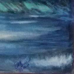 waves, 10 x 13 inch, priyadarsini sahoo,10x13inch,paper,paintings,landscape paintings,paintings for living room,paintings for bathroom,paintings for hotel,acrylic color,GAL02464636044