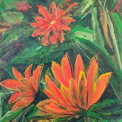 flowers, 14 x 16 inch, sushmita banerjee,14x16inch,canvas,paintings,flower paintings,nature paintings | scenery paintings,acrylic color,GAL02461936049
