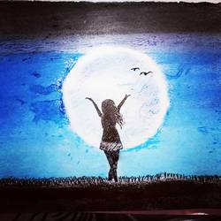 night sky, 8 x 12 inch, pavan pai,8x12inch,paper,figurative paintings,oil color,GAL02465336065