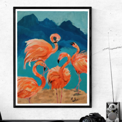 flamingo painting , 18 x 14 inch, neha  gupta,18x14inch,canvas board,paintings,wildlife paintings,modern art paintings,conceptual paintings,still life paintings,nature paintings | scenery paintings,realism paintings,surrealism paintings,animal paintings,contemporary paintings,paintings for dining room,paintings for living room,paintings for bedroom,paintings for office,paintings for kids room,paintings for hotel,paintings for kitchen,paintings for school,acrylic color,GAL02043236078
